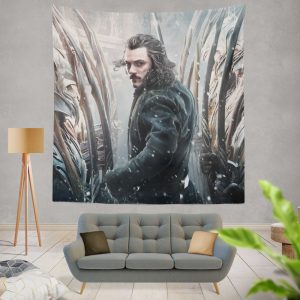 Bard the Bowman in The Hobbit Battle of the Five Armies Movie Wall Hanging Tapestry