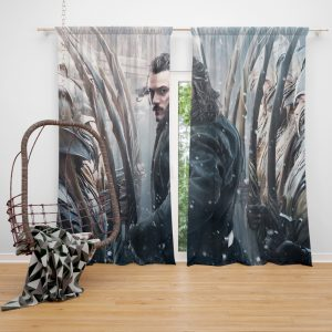 Bard the Bowman in The Hobbit Battle of the Five Armies Movie Window Curtain