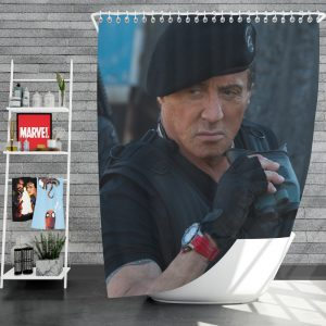Barney Ross Sylvester Stallone The Expendables 3 Movie Shower Curtain