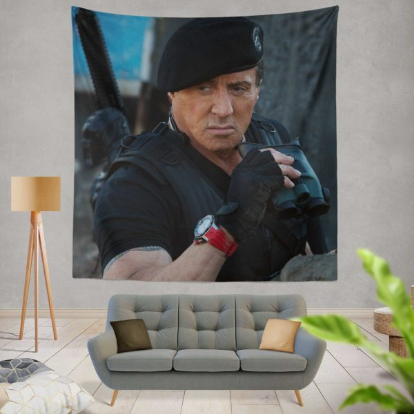 Barney Ross Sylvester Stallone The Expendables 3 Movie Wall Hanging Tapestry