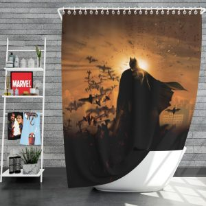 Batman Begins Movie Bruce Wayne Shower Curtain