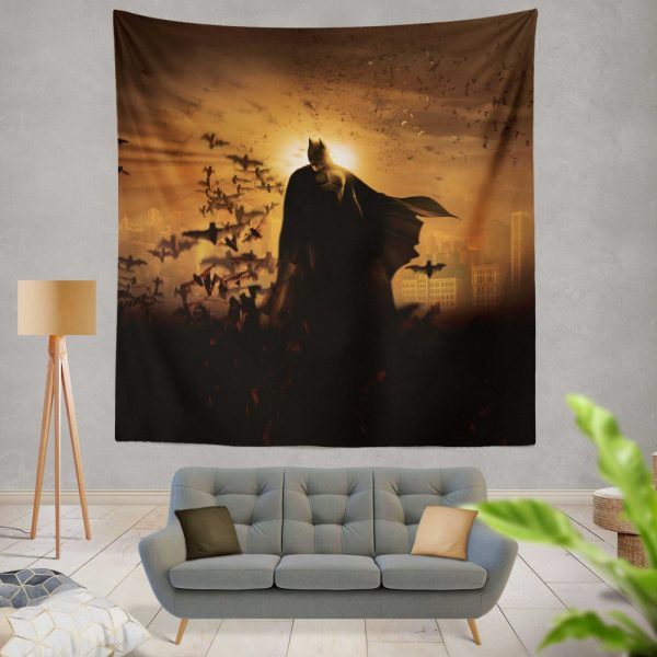 Batman Begins Movie Bruce Wayne Wall Hanging Tapestry