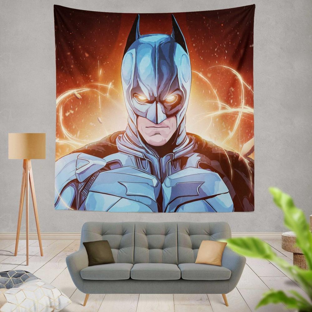 Youth Kids Bedroom Batman Dark Knight Twin Size Platform: Batman The Dark Knight Movie DC Comics Wall Hanging