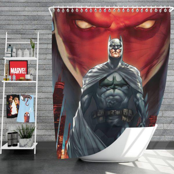 Batman Under the Red Hood Movie Bruce Wayne DC Comics Jason Todd Shower Curtain