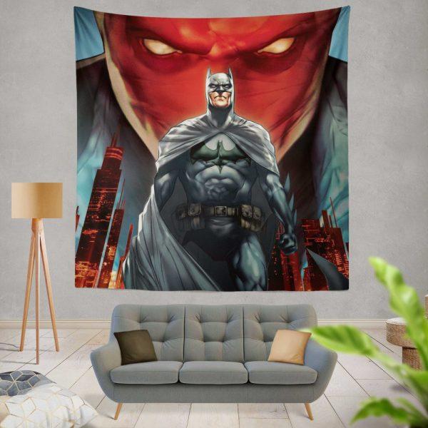 Batman Under the Red Hood Movie Bruce Wayne DC Comics Jason Todd Wall Hanging Tapestry