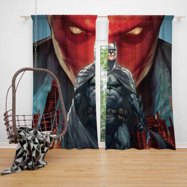 Batman Under the Red Hood Movie Bruce Wayne DC Comics Jason Todd Window Curtain