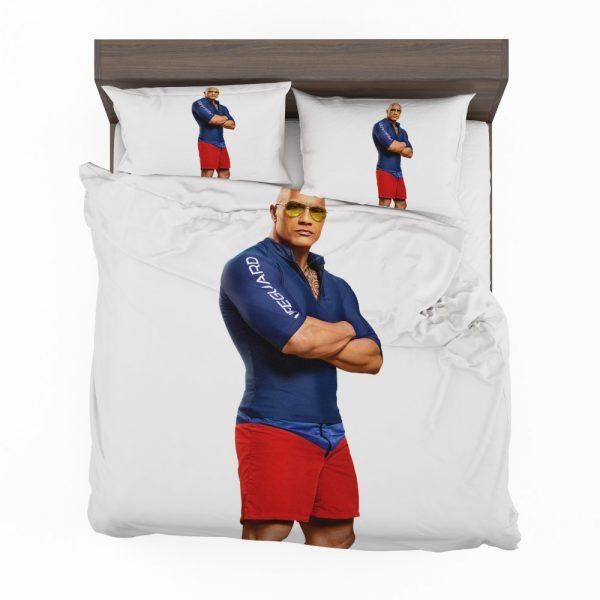 Baywatch Movie Actor Baywatch Dwayne Johnson Man Muscle Bedding Set 2