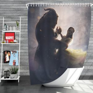 Beauty And The Beast 2017 Movie Dan Stevens Emma Watson Shower Curtain