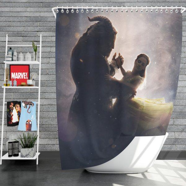 Beauty And The Beast 2017 Movie Dan Stevens Emma Watson Shower Curtain