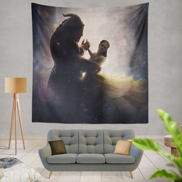 Beauty And The Beast 2017 Movie Dan Stevens Emma Watson Wall Hanging Tapestry