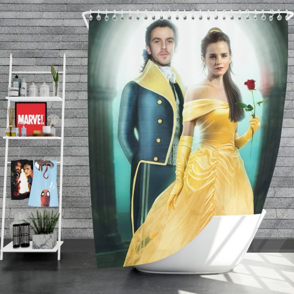 Beauty And The Beast 2017 Movie Emma Watson Shower Curtain