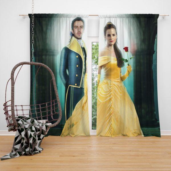Beauty And The Beast 2017 Movie Emma Watson Window Curtain