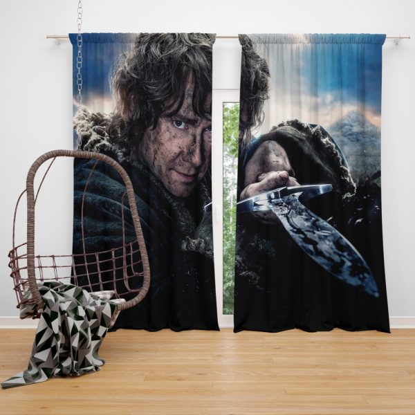Bilbo Baggins in Lord Of The Rings Movie Window Curtain
