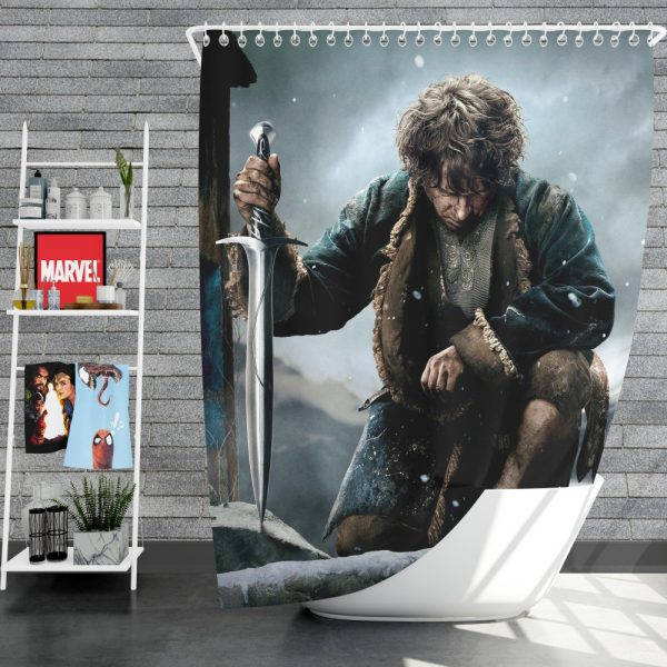 Bilbo Baggins in The Hobbit Battle of the Five Armies Movie Shower Curtain