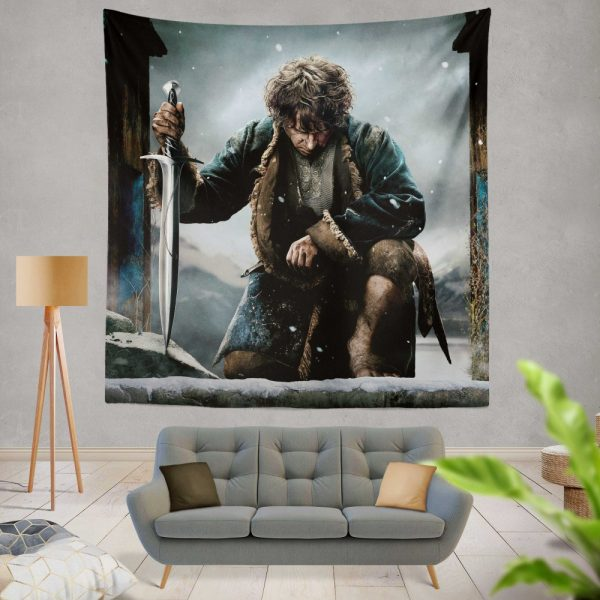 Bilbo Baggins in The Hobbit Battle of the Five Armies Movie Wall Hanging Tapestry