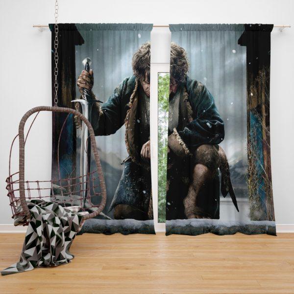 Bilbo Baggins in The Hobbit Battle of the Five Armies Movie Window Curtain