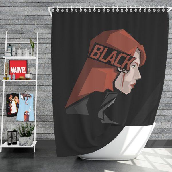 Black Widow Movie Shower Curtain