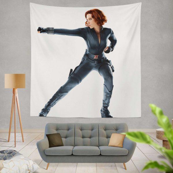 Black Widow in The Avengers Movie Scarlett Johansson Wall Hanging Tapestry