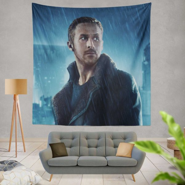 Blade Runner 2049 Movie Officer K Ryan Gosling Wall Hanging Tapestry