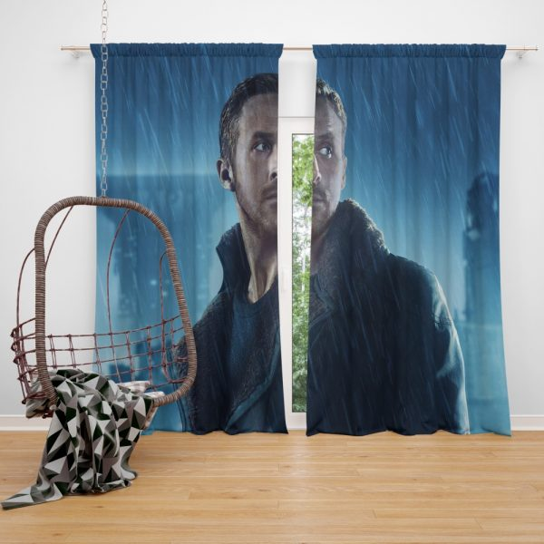Blade Runner 2049 Movie Officer K Ryan Gosling Window Curtain