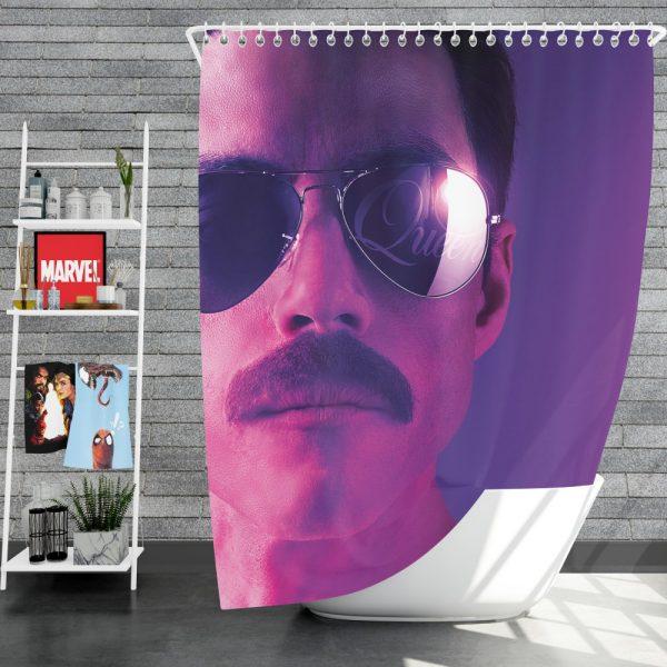 Bohemian Rhapsody Movie Freddie Mercury Queen Rami Malek Shower Curtain