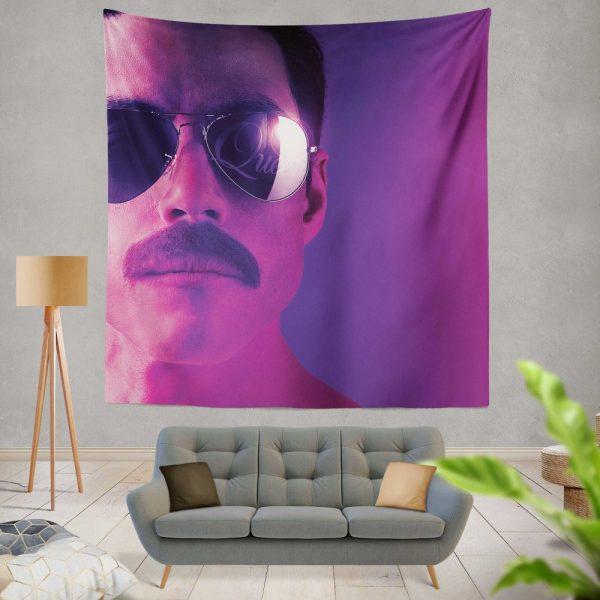 Bohemian Rhapsody Movie Freddie Mercury Queen Rami Malek Wall Hanging Tapestry