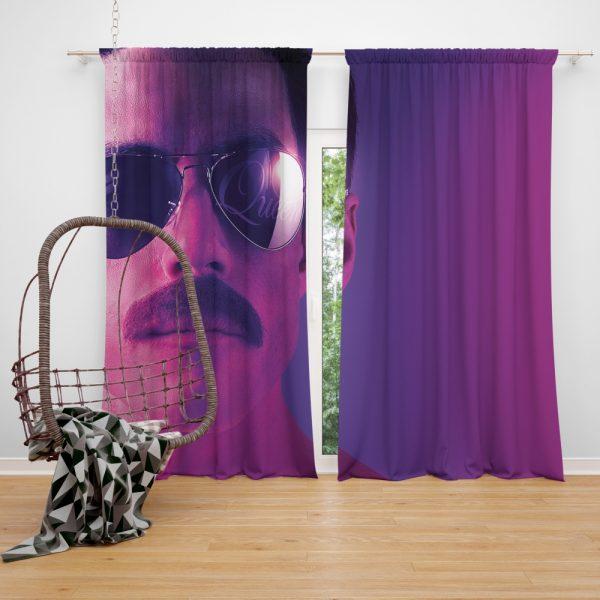Bohemian Rhapsody Movie Freddie Mercury Queen Rami Malek Window Curtain