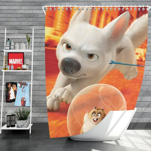 Bolt Movie Adventure Shower Curtain