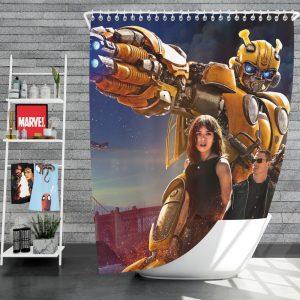 Bumblebee Movie Transformers Hailee Steinfeld John Cena Shower Curtain