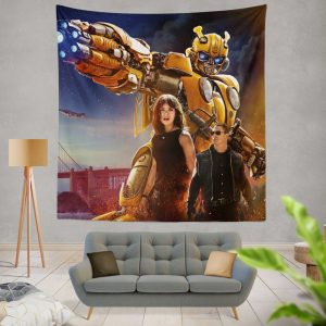 Bumblebee Movie Transformers Hailee Steinfeld John Cena Wall Hanging Tapestry