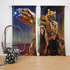 Bumblebee Movie Transformers Hailee Steinfeld John Cena Window Curtain