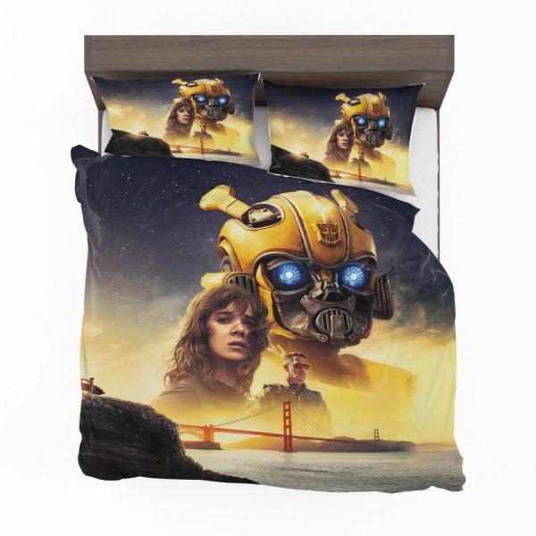 Bumblebee Movie Transformers Hailee Steinfeld Sci-Fi Thriller Bedding Set 2
