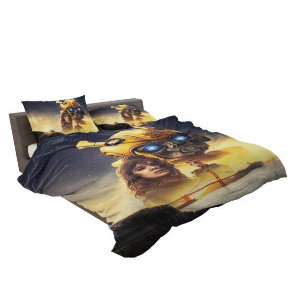 Bumblebee Movie Transformers Hailee Steinfeld Sci-Fi Thriller Bedding Set 3