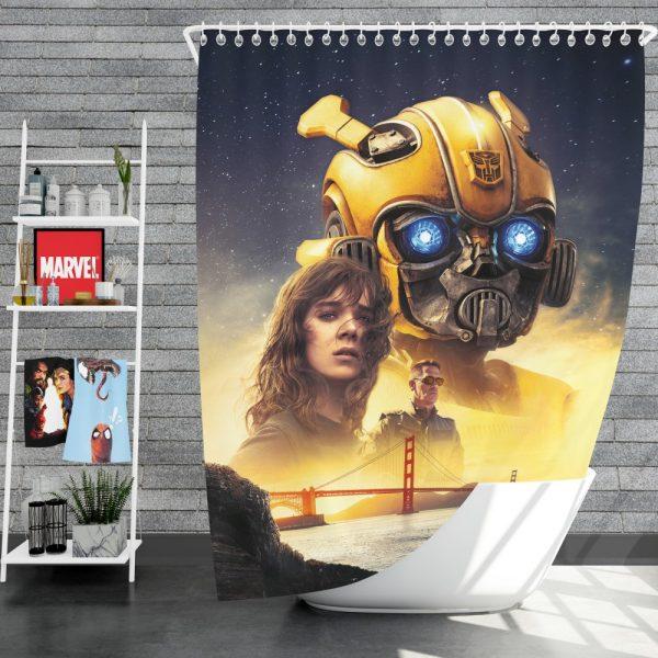 Bumblebee Movie Transformers Hailee Steinfeld Sci-Fi Thriller Shower Curtain