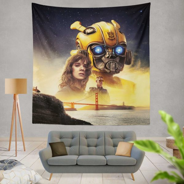 Bumblebee Movie Transformers Hailee Steinfeld Sci-Fi Thriller Wall Hanging Tapestry