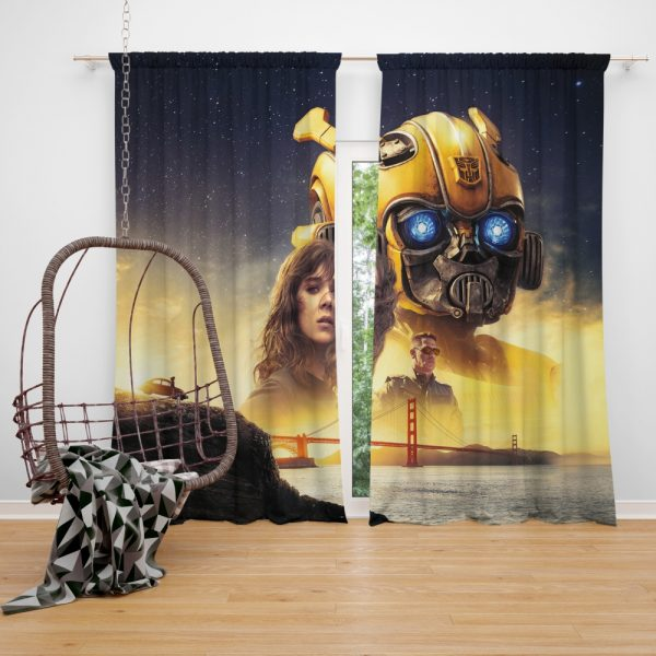 Bumblebee Movie Transformers Hailee Steinfeld Sci-Fi Thriller Window Curtain