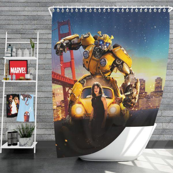 Bumblebee Movie Transformers Hailee Steinfeld Shower Curtain
