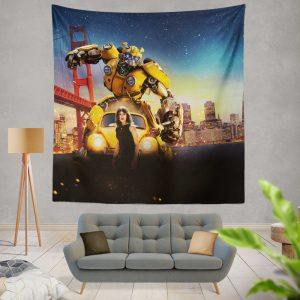 Bumblebee Movie Transformers Hailee Steinfeld Wall Hanging Tapestry