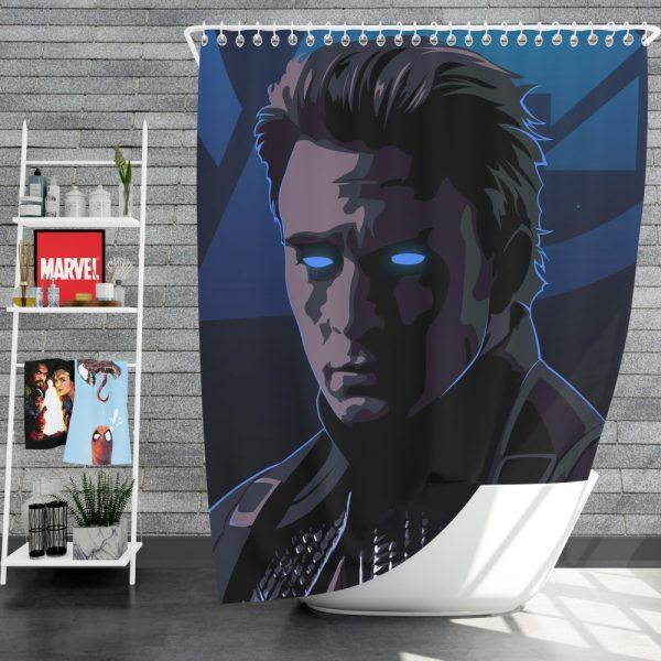 Captain America Avengers Endgame Movie Marvel Comics Shower Curtain