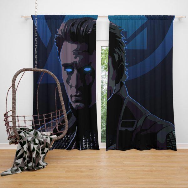 Captain America Avengers Endgame Movie Marvel Comics Window Curtain