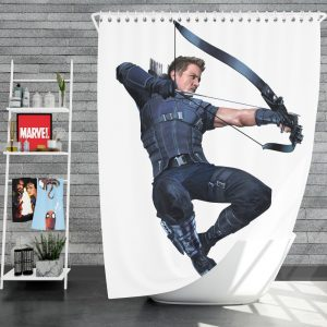 Captain America Civil War Movie Hawkeye Jeremy Renner Shower Curtain
