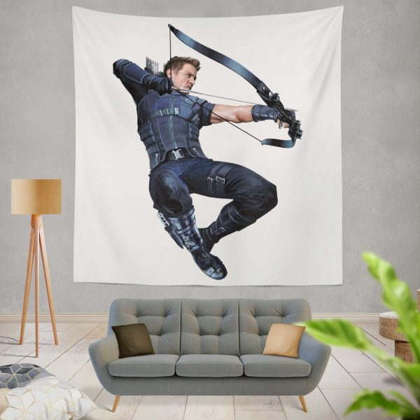 Captain America Civil War Movie Hawkeye Jeremy Renner Wall Hanging Tapestry