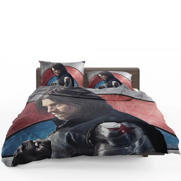 Captain America Civil War Movie Sebastian Stan Winter Soldier Bedding Set 1