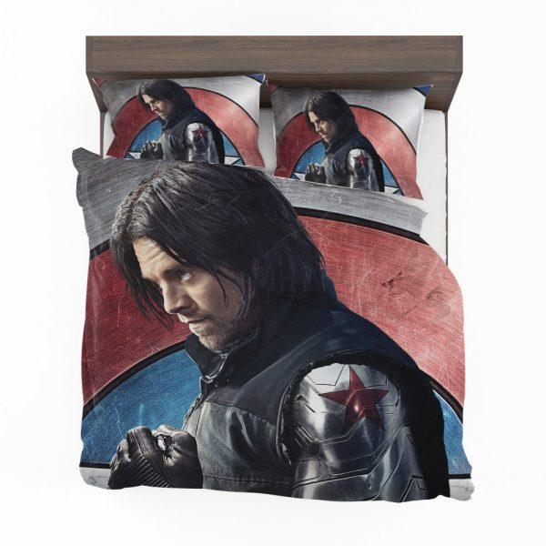 Captain America Civil War Movie Sebastian Stan Winter Soldier Bedding Set 2