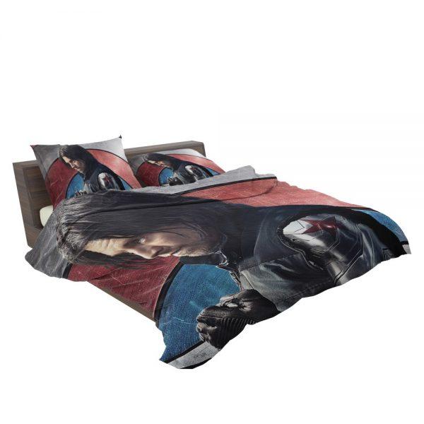 Captain America Civil War Movie Sebastian Stan Winter Soldier Bedding Set 3