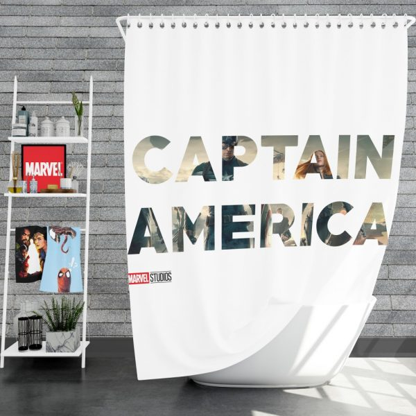 Captain America The First Avenger Movie Shower Curtain