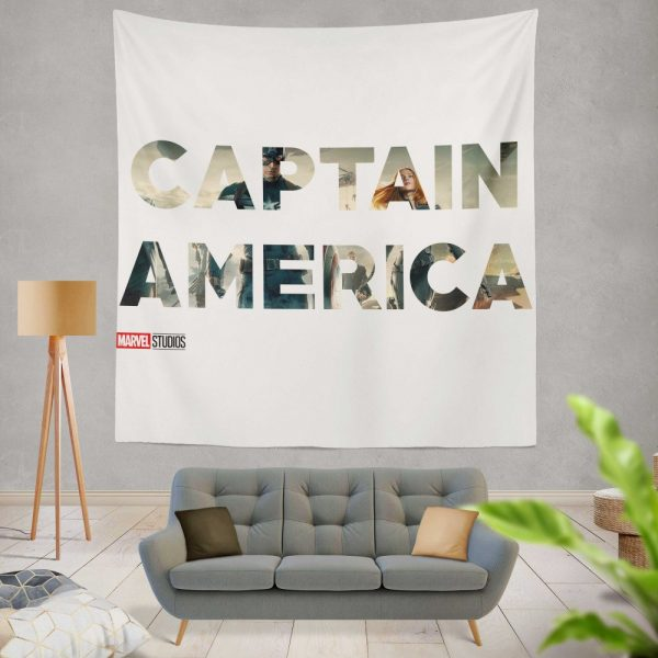 Captain America The First Avenger Movie Wall Hanging Tapestry
