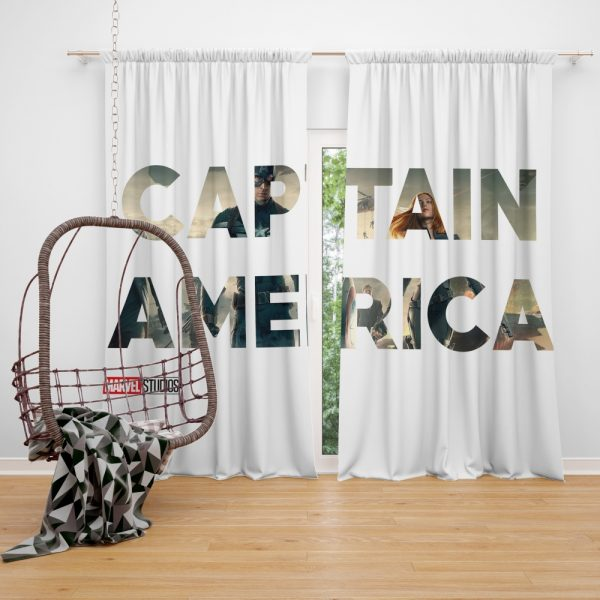 Captain America The First Avenger Movie Window Curtain