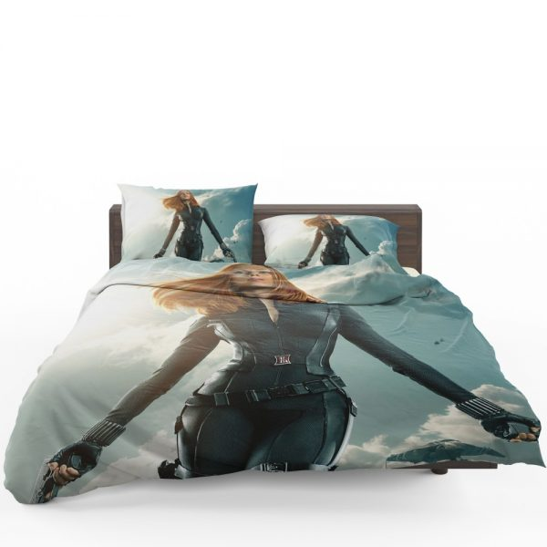 Captain America The Winter Soldier Movie Avengers Black Widow Scarlett Johansson Bedding Set 1