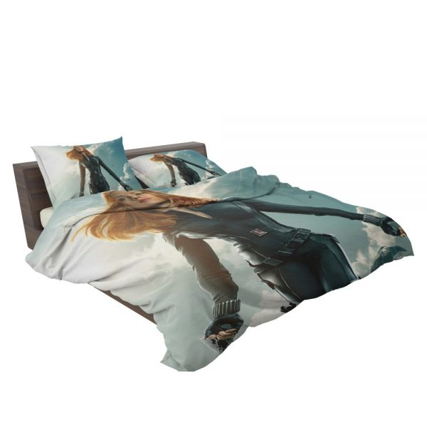 Captain America The Winter Soldier Movie Avengers Black Widow Scarlett Johansson Bedding Set 3